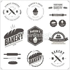 Arte vectorial : Set of bakery labels and design elements