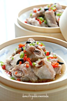 steamed pork ribs with fermented black beans Pork Rib Recipes, Asian Recipes, Ethnic Recipes, Chinese Recipes, Smoker Recipes, Asian Foods, Filipino Recipes, Stir Fry Dishes, Pork Dishes