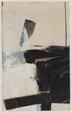 "Franz Kline Black and White Collage (study for ""Accent aigu"") 1957 mixed media: oil, ink and collage on paper 9 7/8 x 6 1/8 in."