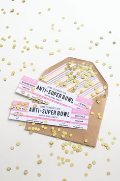 When your team doesn't quite make the cut or you're just not a huge football fan you host an anti-Super Bowl party: http://www.stylemepretty.com/living/2015/01/30/25-super-bowl-party-details/