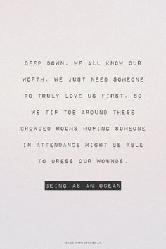 Being as an ocean. Great band. Amazing lyrics
