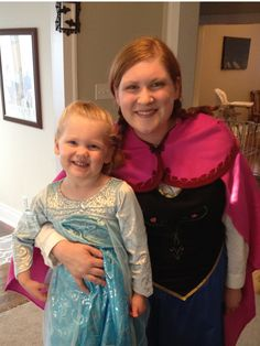 Frozen Anna Costume - bought the Elsa costume, but embellished it!