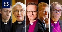 HS:n haastattelemien tutkijoiden mukaan vaalissa on kaksi ennakkoon vahvoilla olevaa ehdokasta, piispat Vikström ja Luoma.