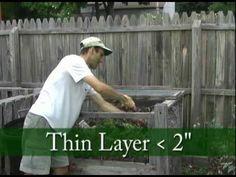 Lasagna Composting Video