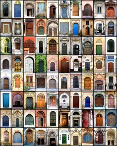 Doors from Around the World. Door Collage. Mosaic. Colorful. Rainbow. Wall Decor. Interior Design. Europe. Home Decor. Poster. Print. Travel Photography. Christmas Gift. Birthday Gift  by seardig, $26.00