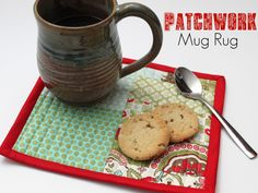 patchwork mug rug tutorial!  I seriously want to make some of these