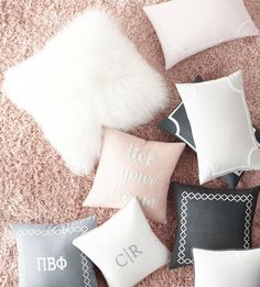 Personalized pillows to accent a girl's room