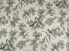 Ivory floral fabric