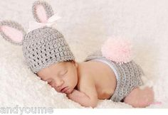 Baby Infant Knit Animal Hat Costume Photo Photography Prop 0-6 Months FREE SHIP | eBay