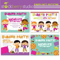Invitations & Greetings - Slumber Party Invitations - MYGRAFICO - DIGITAL ARTS AND CRAFTS STORE