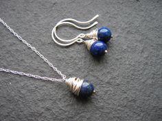 Lapis Lazuli Jewellery Set  Lapis Lazuli Jewellery by LillibetsUK, £28.00