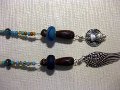 SOJOURN turquoise and gold lariat by blingbychristine on Etsy, $15.00