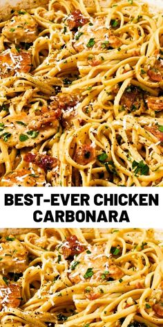 When you're looking for something comforting and carb-y, nothing fits the bill like a good carbonara. This version adds a … When you're looking for something comforting and carb-y, nothing fits the bill like a good carbonara. This version adds a … Crock Pot Recipes, Easy Chicken Recipes, Cooking Recipes, Healthy Recipes, Fish Recipes, Healthy Chef, Bread Recipes, Healthy Foods, Food Dinners