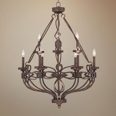 "Marco 29"" Wide 9-Light Bronze Metal Tiered Chandelier"