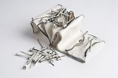 Katharine Morling  Purse of Nails  Porcelain and black stain