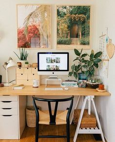 Our Home Office/Guest Bedroom — Black & Blooms – Office Design 2020 Home Design, Home Office Design, Home Office Decor, Office Ideas, Design Ideas, Tiny Bedroom Design, Vintage Office Decor, Vintage Home Offices, Entryway Decor