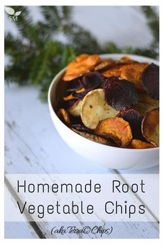 Homemade Root Vegetable Chips (these are SO easy to make, which is good because they are great to have on hand when company stops by or for a get-together) - Scratch Mommy