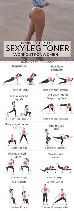 Sexy leg workout routine for women. Tone and sculpt your legs with this lower body circuit workout. This awesome home workout burns fat and will strengthen your muscles. Fitness Workouts, Fitness Motivation, Yoga Fitness, Fitness Goals, Health Fitness, Sport Motivation, Leg Workouts, Physical Fitness, Bodyweight Leg Exercises