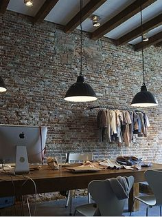 Great Office space. High ceilings, timber ceiling beams, exposed brick walls. Combined timber and metal finishes give this a great Industrial look.