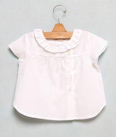 Camisa bb blanca botón lateral