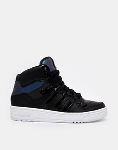 adidas Originals Attitude Black High Top Trainers