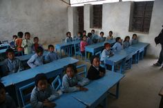 This is a Nepalese classroom.  Most schools in Nepal, about 99% actually, does not use class discussion, and instead has only rote teaching.  I would not want to go to school in those schools.
