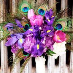 Peacock color scheme for wedding