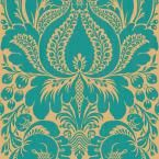 The Wallpaper Company 8 in. x 10 in. Peacock Large Scale Damask Wallpaper Sample-WC1282507S at The Home Depot