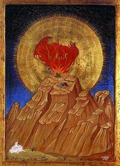 mythologyofblue:   Moses and the Burning Bush, Atelier d'icones Karatzas  (sacred-circle)