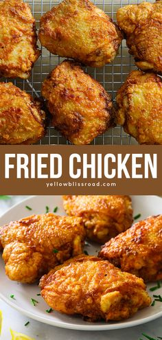 These Fried Chicken Thighs have a golden, crunchy breading with a juicy flavorful center. This easy chicken recipe is sure to become a family favorite! Chicken Thighs Cast Iron, Cast Iron Fried Chicken, Fried Chicken Thigh Recipes, Chicken Thighs In Oven, Oven Fried Chicken Thighs, Lime Chicken Thighs Recipe, Roast Chicken And Gravy, Making Fried Chicken, Crispy Fried Chicken