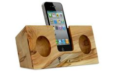 These handmade acoustic speakers from Koostik offer a rustic-meets-modern wooden aesthetic.