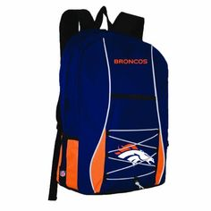 NFL Denver Broncos Scrimmage Backpack by Concept 1. Save 5 Off!. $23.72. The scrimmage is a well- built and functional bag that offers room for storing and keeping your belongings organized.