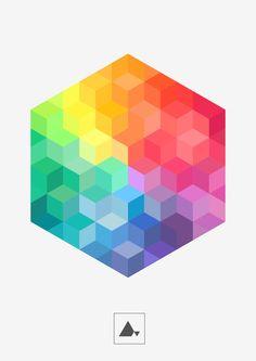 DELTA — Hexagonal III Print