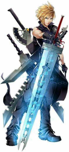 Final Fantasy VII Cloud Strife y una de sus leyendas Arte Final Fantasy, Final Fantasy Cloud, Final Fantasy Characters, Final Fantasy Artwork, Video Game Characters, Fantasy Series, Final Fantasy Weapons, Manga Anime, Comic Manga