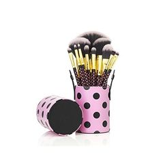 KINGLAKE 11 PCS Professional Makeup Brush Set Cosmetic Brush Kit with Cup PU Leather Holder CaseGreat for Travel *** Click on the image for additional details.