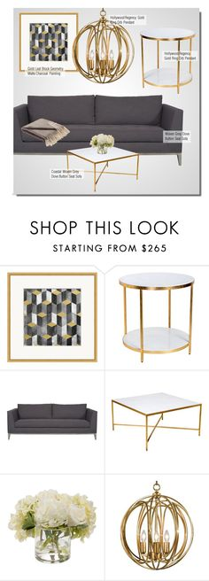 """Modern Living Room"" by kathykuohome ❤ liked on Polyvore featuring interior, interiors, interior design, home, home decor, interior decorating, Lucca Couture, Majorelle, living room and modern"