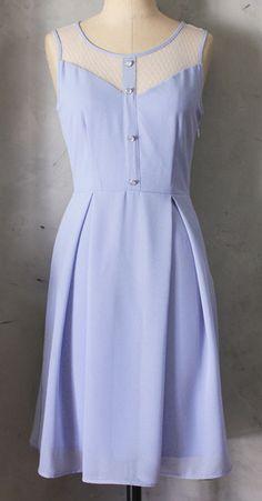 Lavender lace top dress