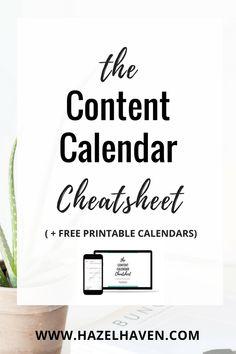 The Content Calendar Cheatsheet Inside you will learn: Content Marketing Tools, Social Media Content, Social Media Tips, Social Media Marketing, Marketing Strategies, Business Marketing, Marketing Ideas, Marketing Digital, Online Marketing