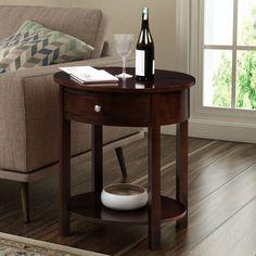 Convenience Concepts Classic Accents Cypress Wood End Table (Espresso - Espresso Finish), Brown