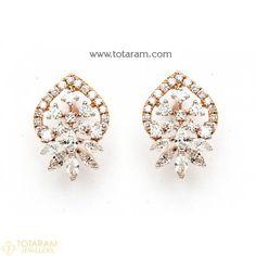 Diamond Earrings for Women in 18K Gold VVS Clarity E-F Color -Indian Diamond Jewelry -Buy Online Diamond Earrings For Women, Diamond Dangle Earrings, Diamond Earing, Women's Earrings, Diamond Jewelry, Hazoorilal Jewellers, Diamond Jhumkas, Best Diamond, Designer Earrings