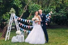 Romantic pink and blue wedding