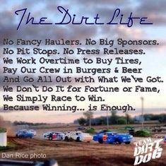 Gotta love dirt track racing!!!!