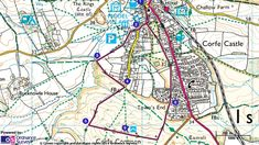 A route map of the Corfe Common history walk easy walk