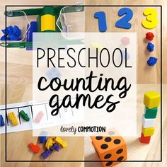 Need some simple preschool counting activities? The best way to help a child learn to rote count and count with correspondence is to play games! Here are some preschool counting games. Counting Activities, Preschool Learning Activities, Preschool Classroom, Kids Learning, Space Activities, Group Activities, Preschool Ideas, Math Games, Number Games