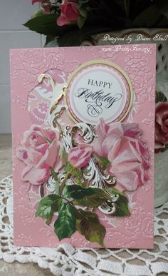 Birthday card designed by Diane Shull using Anna Griffin products purchased from HSN.
