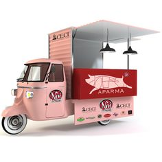 Non è che l'idea sia nuovissima (due anni fa a Lecce il Salumificio Scarlino presentò un progetto simile), ma l'Ape Car rosa di Aparma ribadisce che lo street food sarà  >>