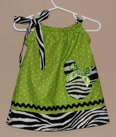 pillowcase dress - love the zebra and lime - great for Animal Kingdom day!