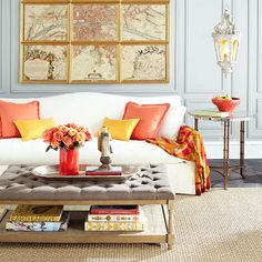 Love this color combination minus the ottoman