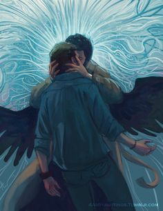 """4amhauntings: """" """" But you are like the sun, too bright to behold. """" Just some Destiel. Inspired by this: [x] """""""