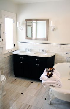 This was a bathroom that was done by Nicole Curtis of the DIY Network (Rehab Addict) Marble Bathroom